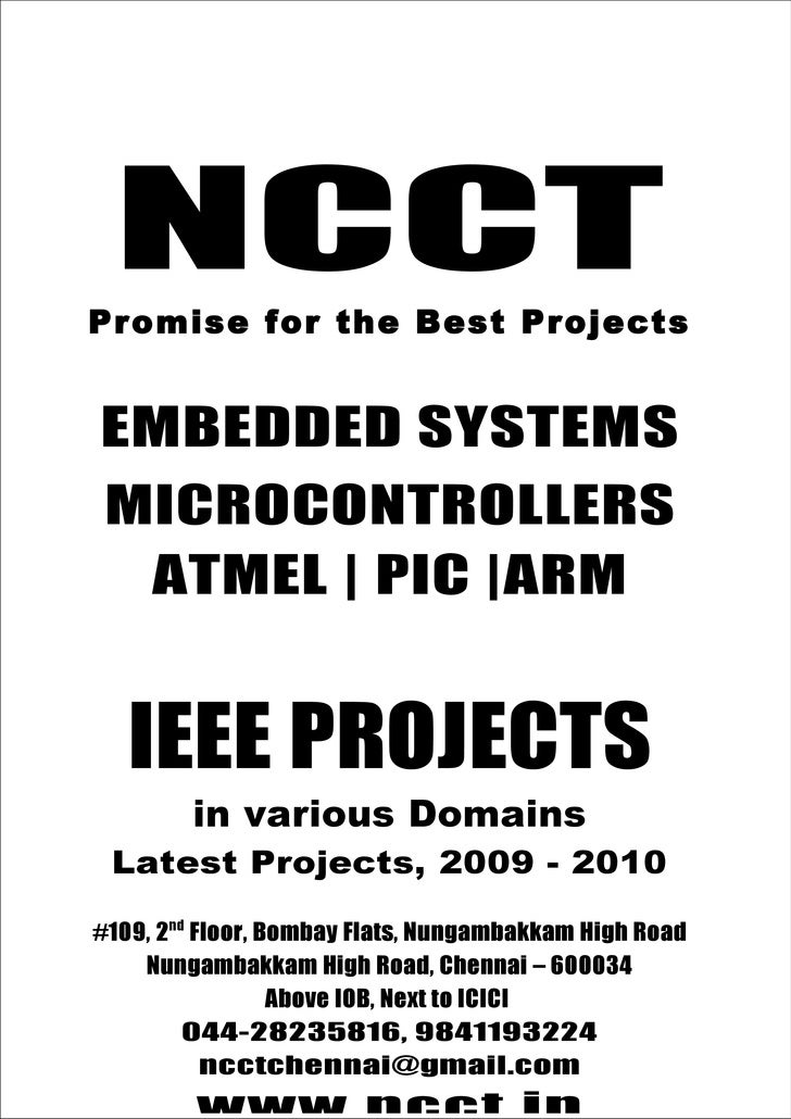 Ieee+Embedded+Ieee+Project+Titles +2009+ +2010+Ncct+Final+Year+Projects