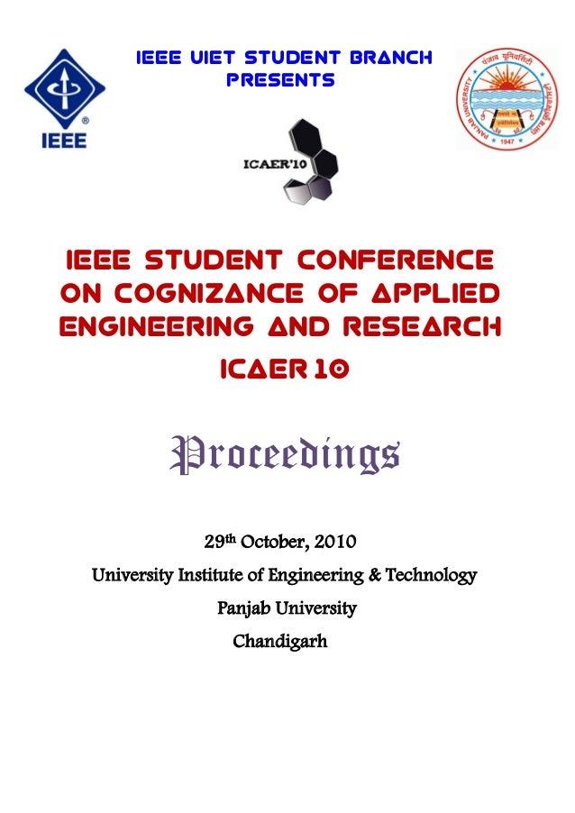 Ieee icaer 2010 proceedings