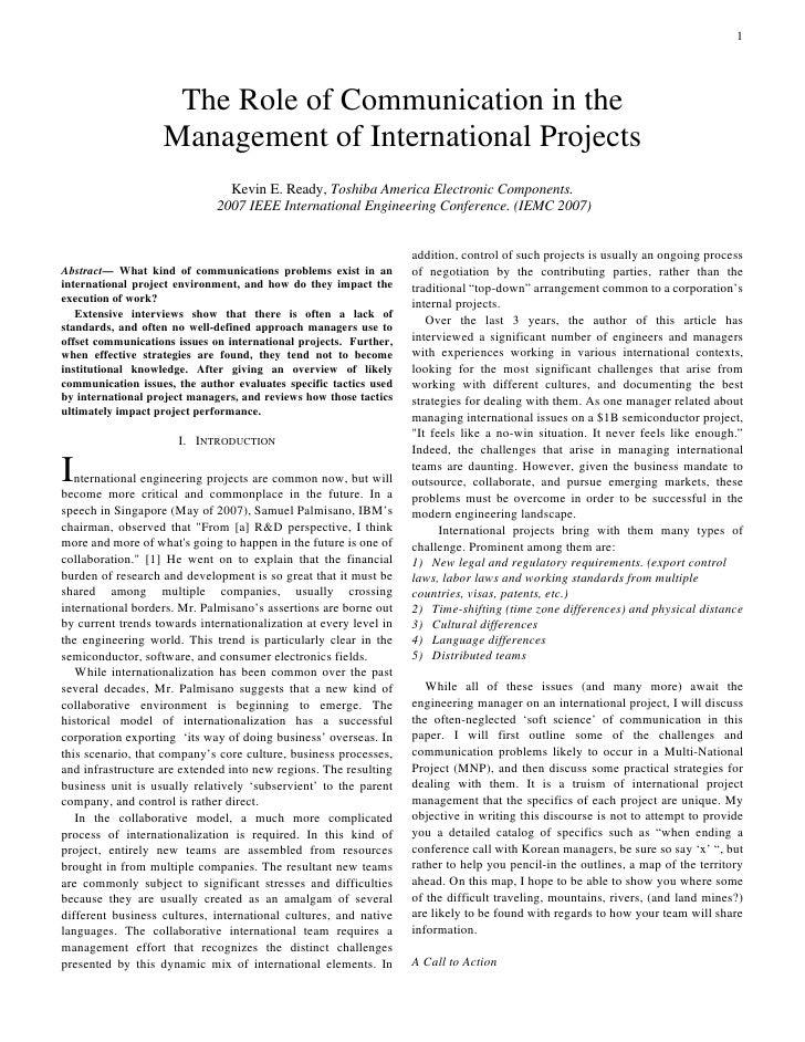International Engineering Management Conference presentation Kevin Ready June 14 2007