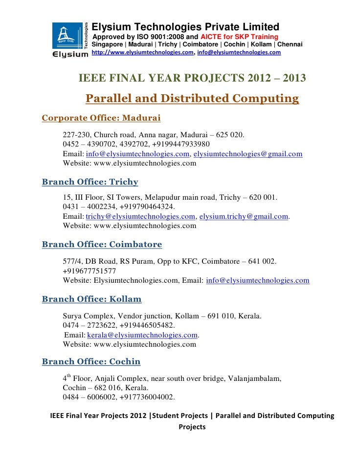 Ieee projects 2012 2013 - Parallal and Distributed Computing