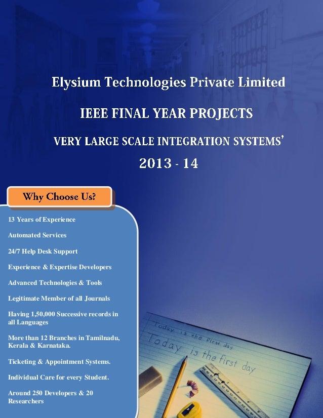 Final Year IEEE Project 2013-2014 - VLSI Title List