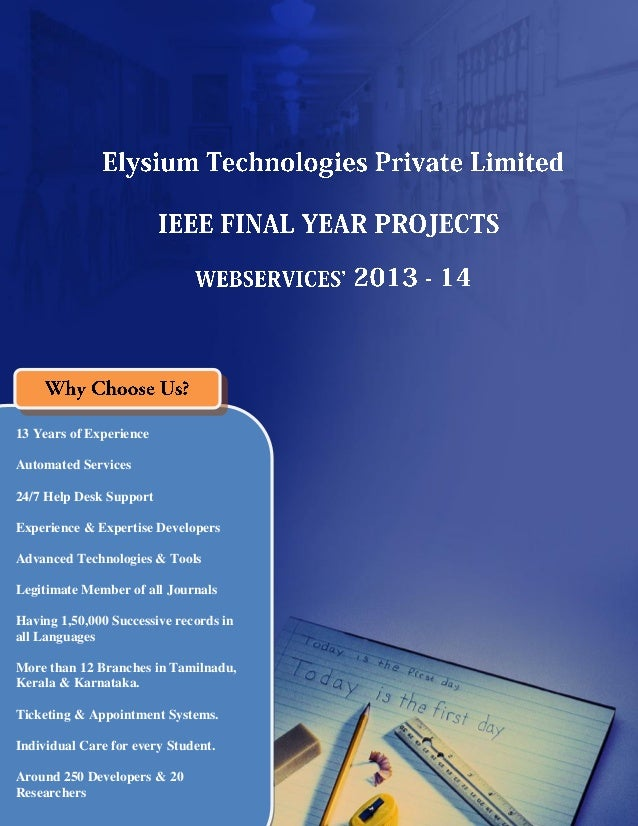 Final Year IEEE Project 2013-2014 - Web Service Title List