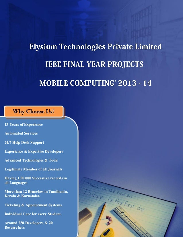 Final Year IEEE Project 2013-2014  - Networking Project Title and Abstract