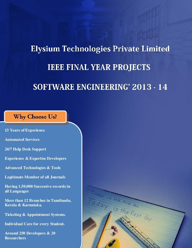 Final Year IEEE Project 2013-2014  - Software Engineering Project Title and Abstract