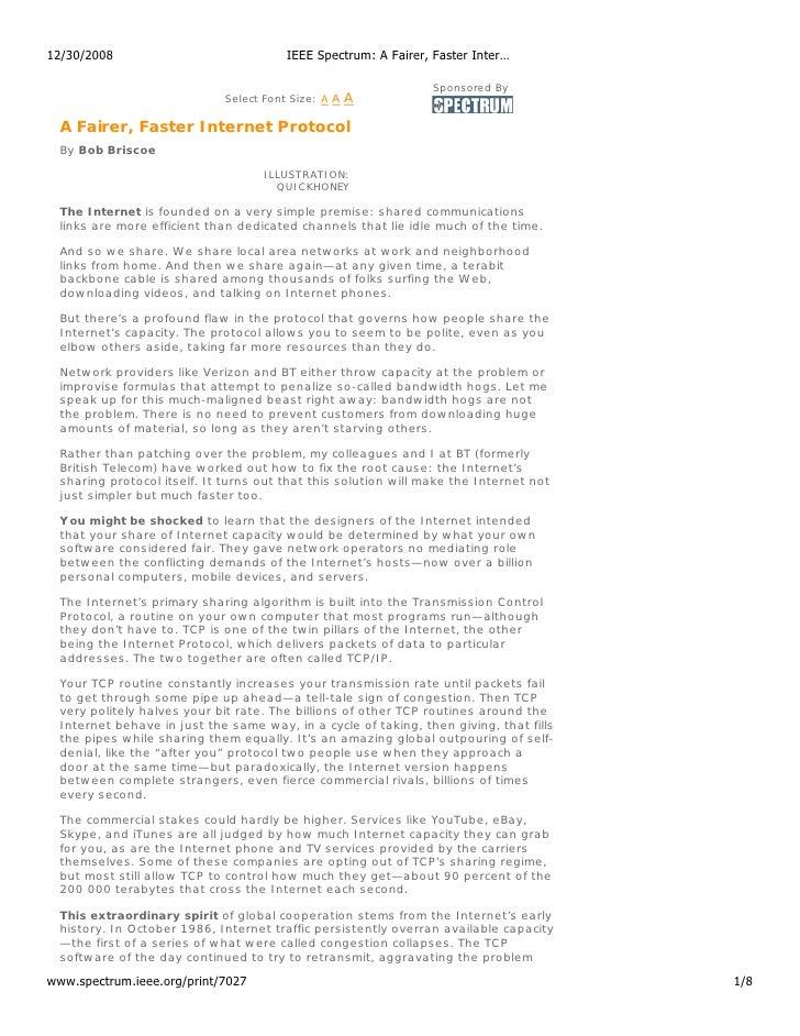 12/30/2008                                 IEEE Spectrum: A Fairer, Faster Inter…                                         ...