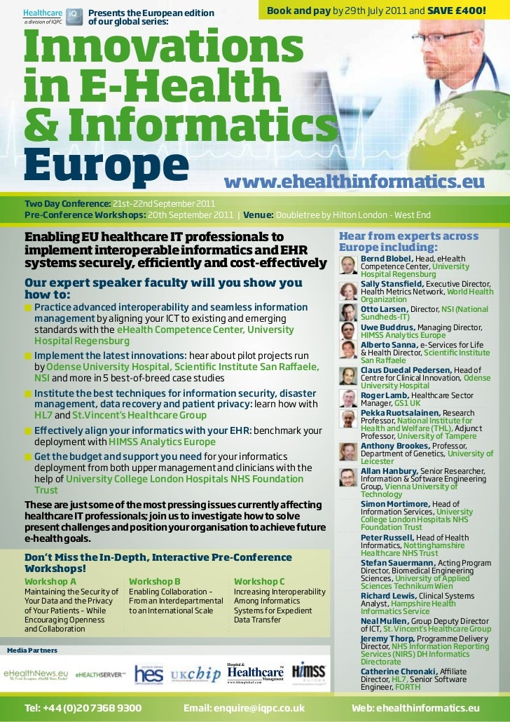 Presents the European edition                    Book and pay by 29th July 2011 and SAVE £400!    Innovations             ...