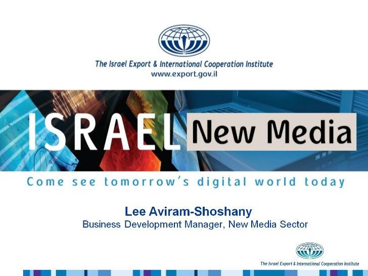 Israeli New Media Innovation - IBC 2011