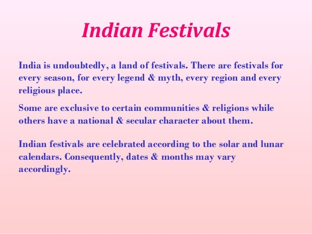 essay on religious festivals in india Religious festivals indian festivals short essay for school students on indian festivals a festival is an occasion of enjoyment and festivals of india.