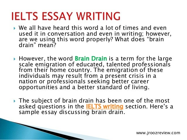 brain and drain essay Free brain papers, essays, and research papers these results are sorted by most relevant first (ranked search) you may also sort these by color rating or essay.