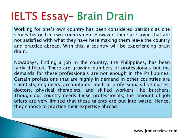 "essays on brain drain in pakistan Brain drain intro 1 brain drain is basically understood as the country's loss of highly-skilled human capital together with a simultaneous lack of ""brain."