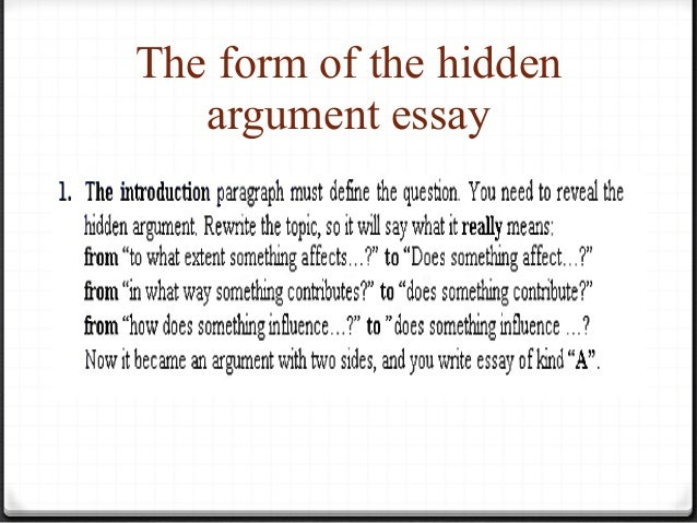 Need help with argument essay?