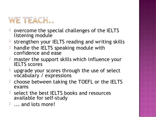 Ielts overview presentation