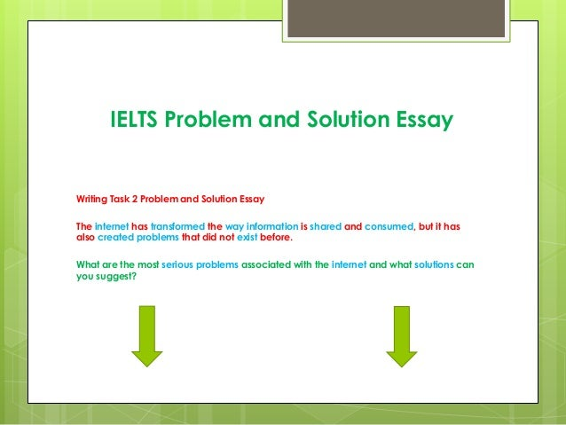 problem and solution essay and lesson Search results results for problem/solution they understand the structure of a problem/solution text format: lesson elaboration in a problem/solution essay.