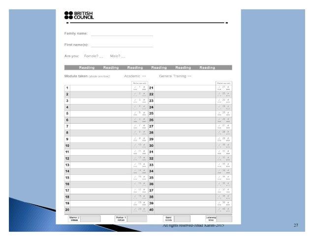 IELTS Writing Answer Sheet: Free Download