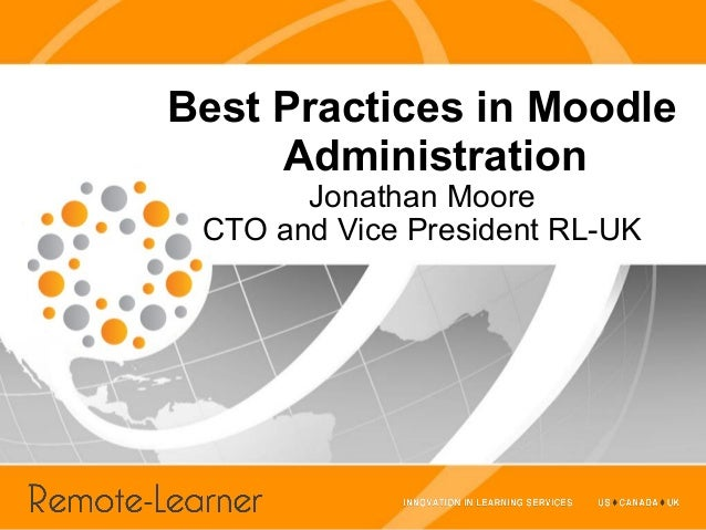 Best Practices in Moodle Administration