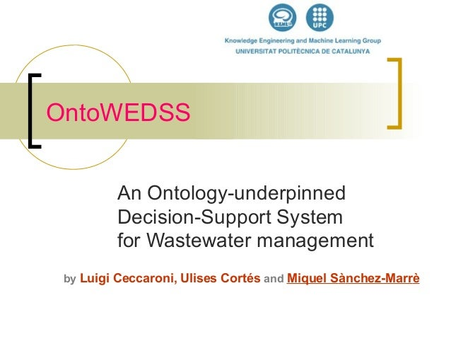 An Ontology-underpinned Decision-Support System for Wastewater management