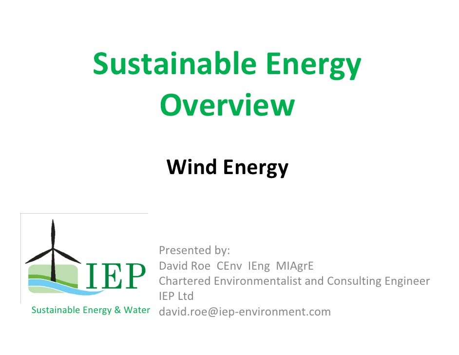 Farm Wind Energy - David Roe (IEP)