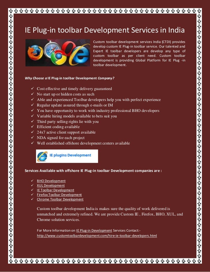 IE Plug-in toolbar Development Services in India
