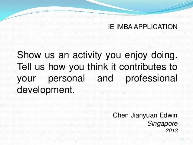 IE IMBA presentation
