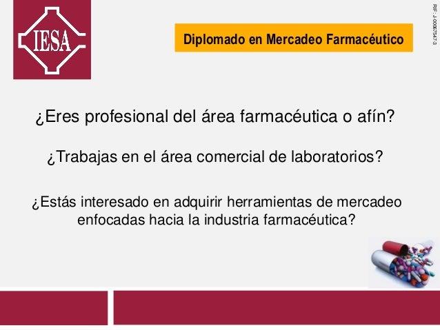 ¿Eres profesional del área farmacéutica o afín? ¿Trabajas en el área comercial de laboratorios? ¿Estás interesado en adqui...
