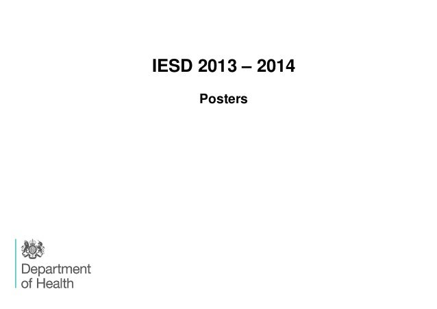 IESD 2013 – 2014 Posters