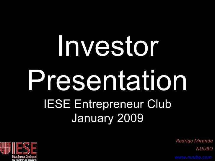 How to present to Investors?