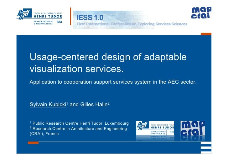 Usage-centered design of adaptable visualization services. Application to cooperation support services system in the AEC s...