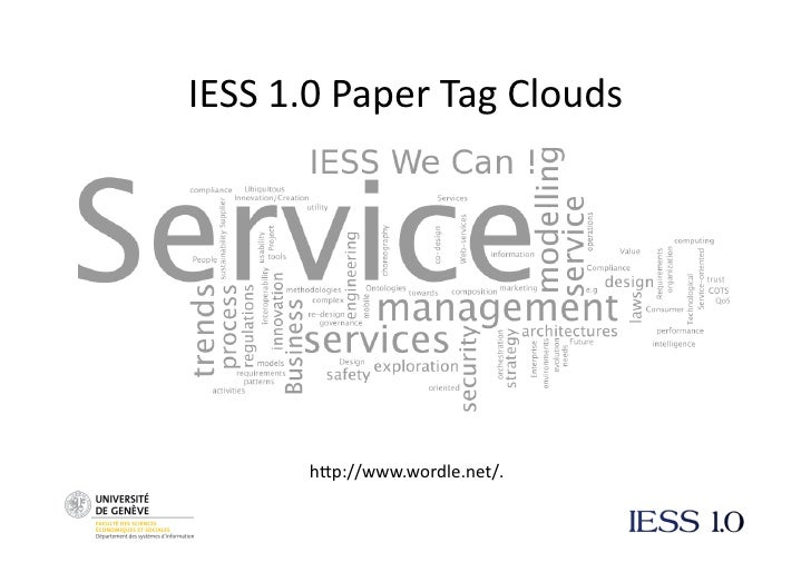 IESS1.0PaperTagClouds            h6p://www.wordle.net/.