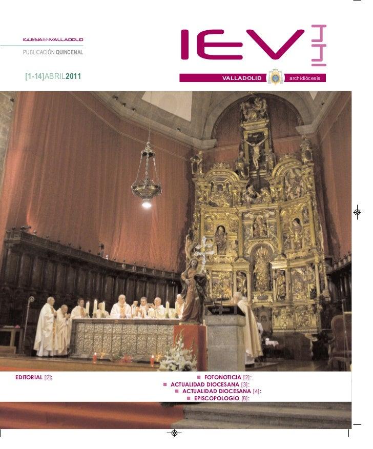 144     IGLESIAENVALLADOLID     PUBLICACIÓN QUINCENAL      [1-14]ABRIL2011                                                ...