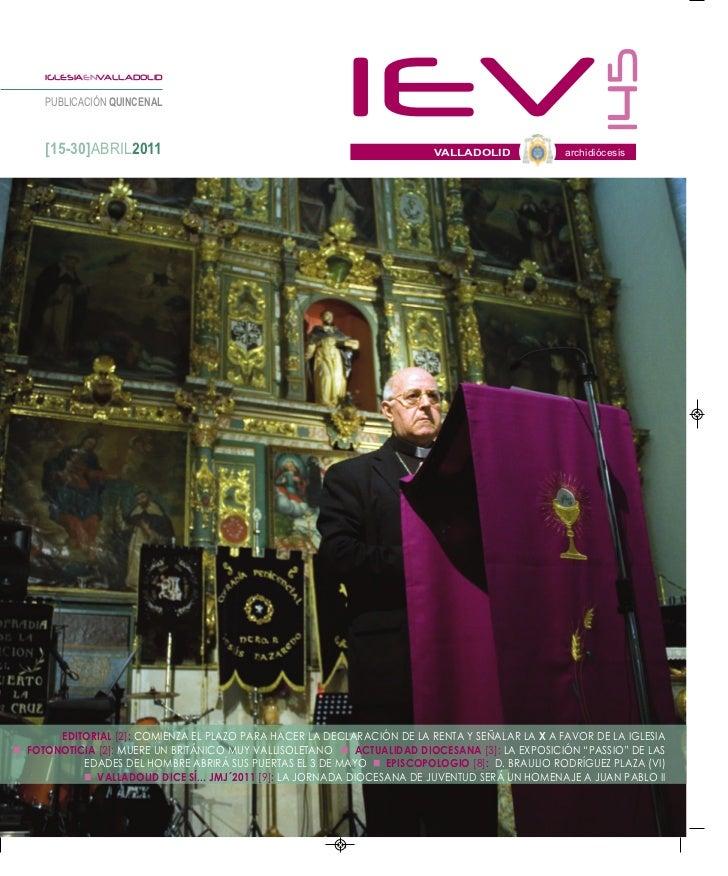 145     IGLESIAENVALLADOLID     PUBLICACIÓN QUINCENAL     [15-30]ABRIL2011                                                ...