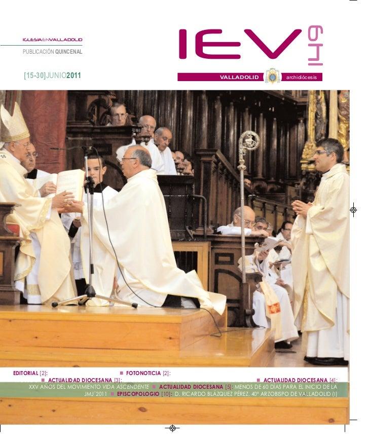 149   IGLESIAENVALLADOLID   PUBLICACIÓN QUINCENAL   [15-30]JUNIO2011                                                      ...