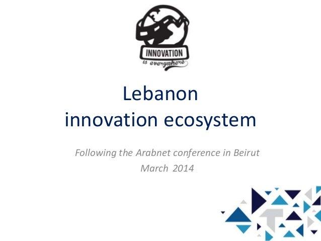 Innovation is Everywhere - Lebanon innovation ecosystem