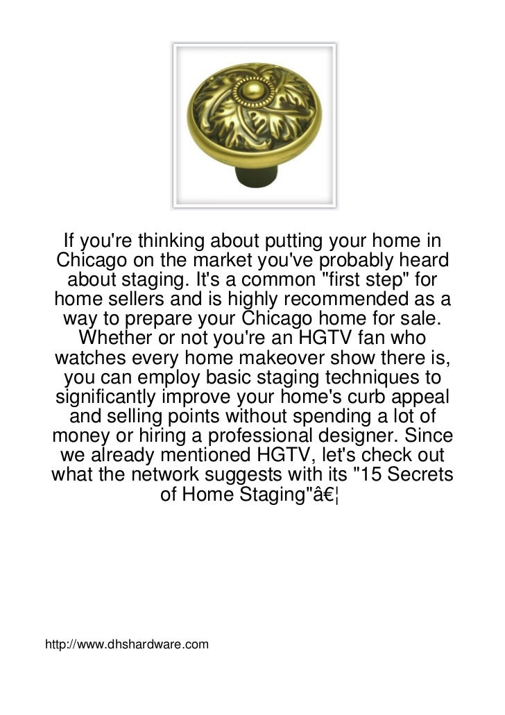 """If youre thinking about putting your home in Chicago on the market youve probably heard   about staging. Its a common """"fir..."""