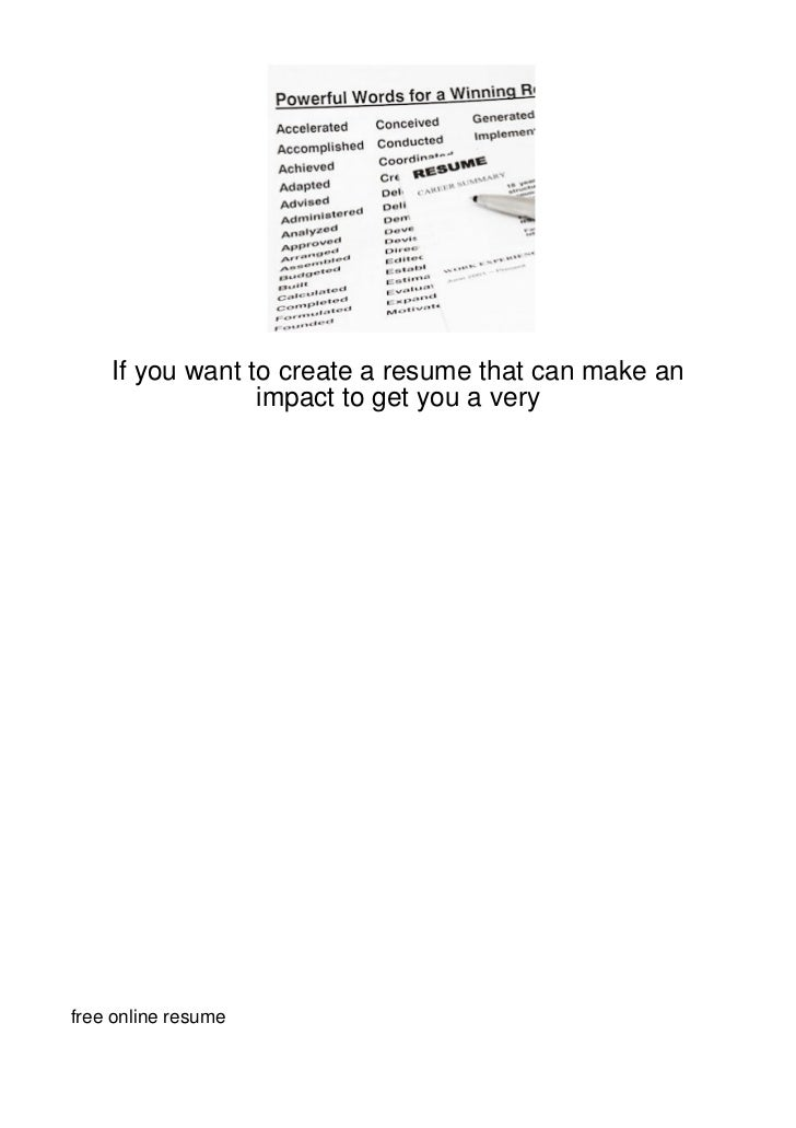 if you want to create a resume that can make an im136