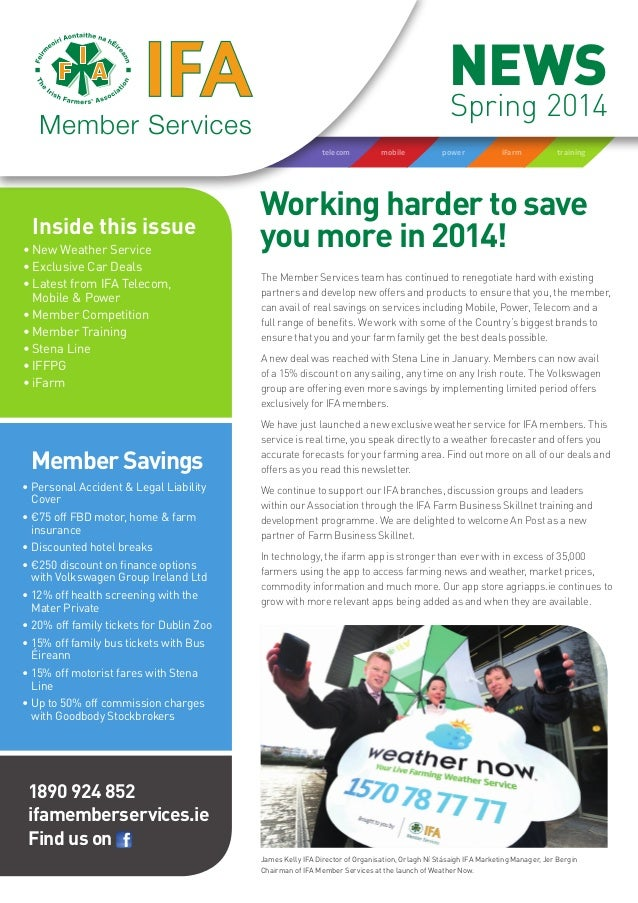 IFA Member Services Newsletter Spring 2014