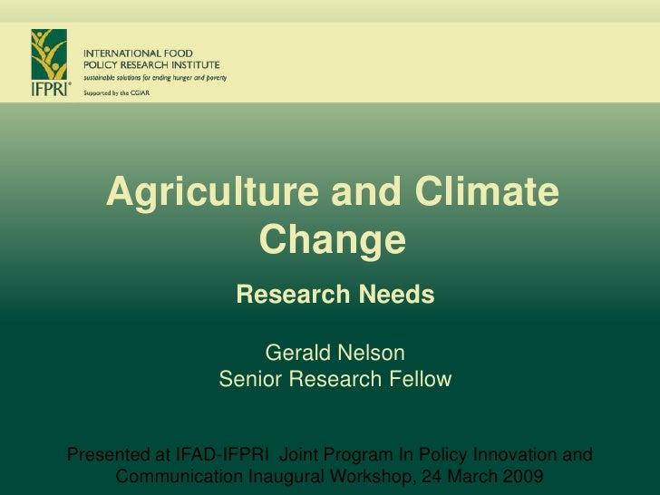Ifad Ifpri Climate Change