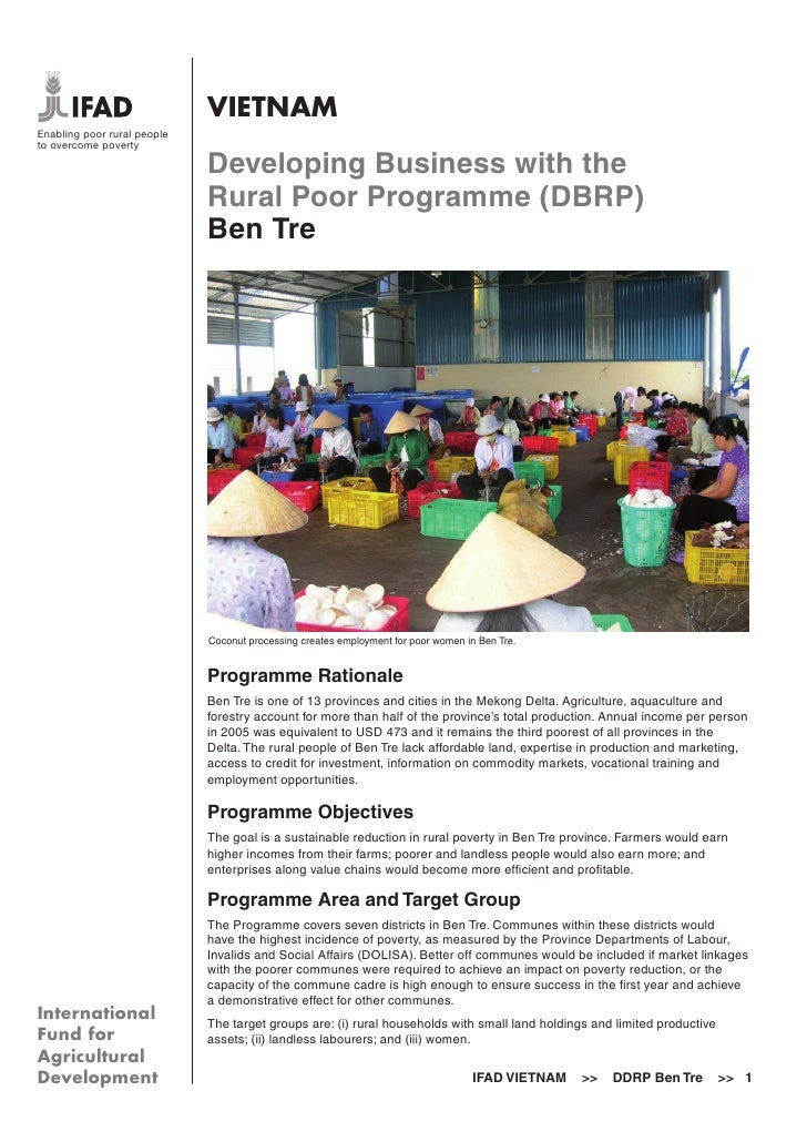 VIETNAMEnabling poor rural peopleto overcome poverty                             Developing Business with the             ...