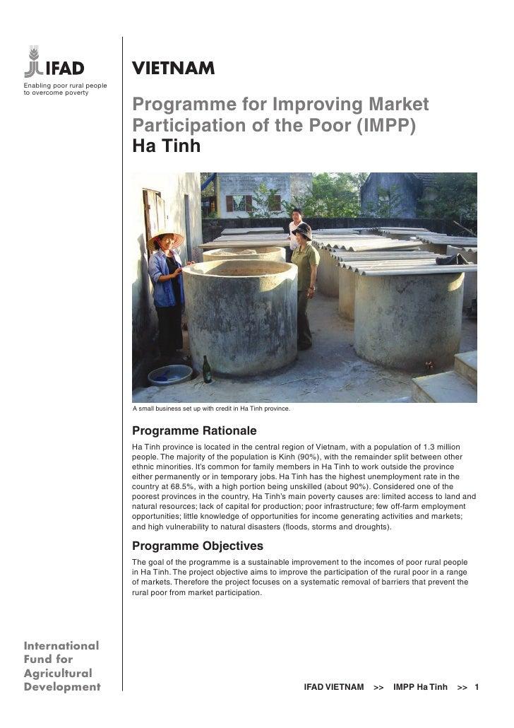 IFAD Vietnam Ha Tinh programme