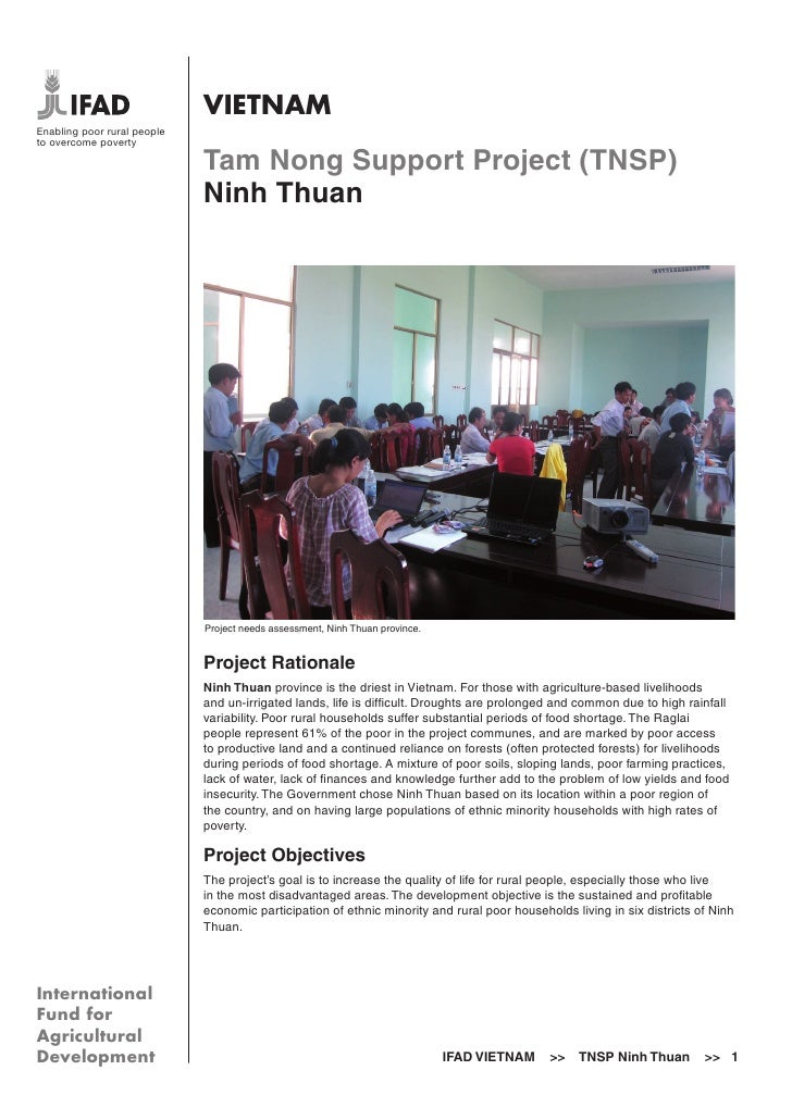 VIETNAMEnabling poor rural peopleto overcome poverty                             Tam Nong Support Project (TNSP)          ...