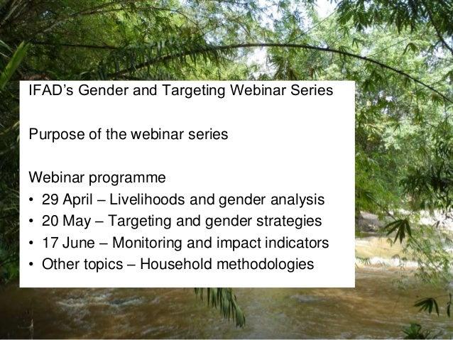Practical tips on preparing targeting and gender strategies
