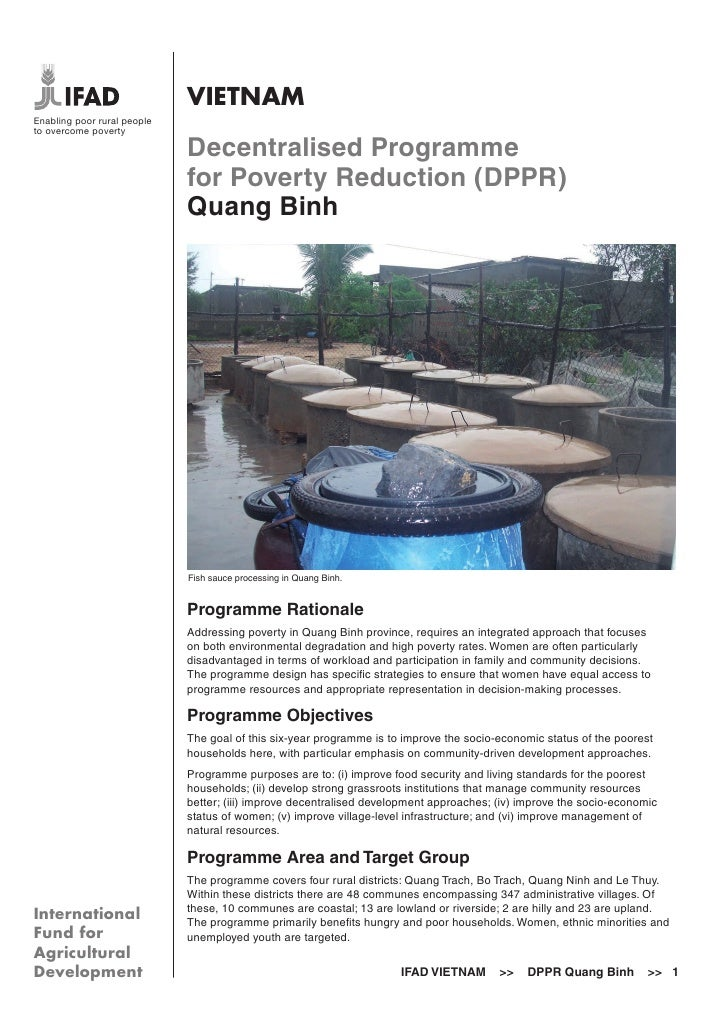 VIETNAMEnabling poor rural peopleto overcome poverty                             Decentralised Programme                  ...