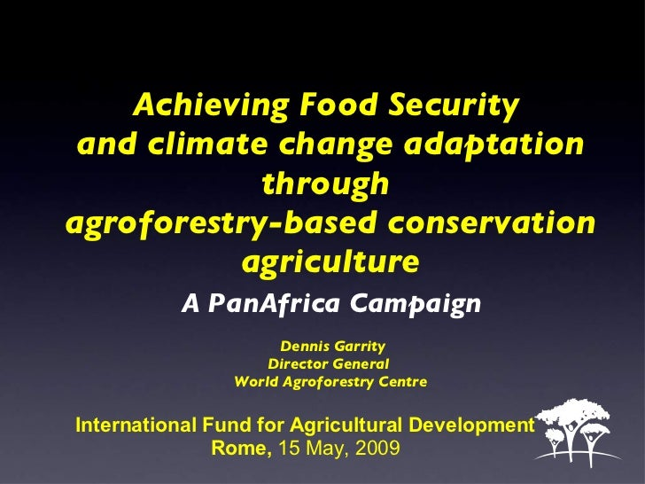 Achieving Food Security  and climate change adaptation through  agroforestry-based conservation agriculture   A PanAfrica ...