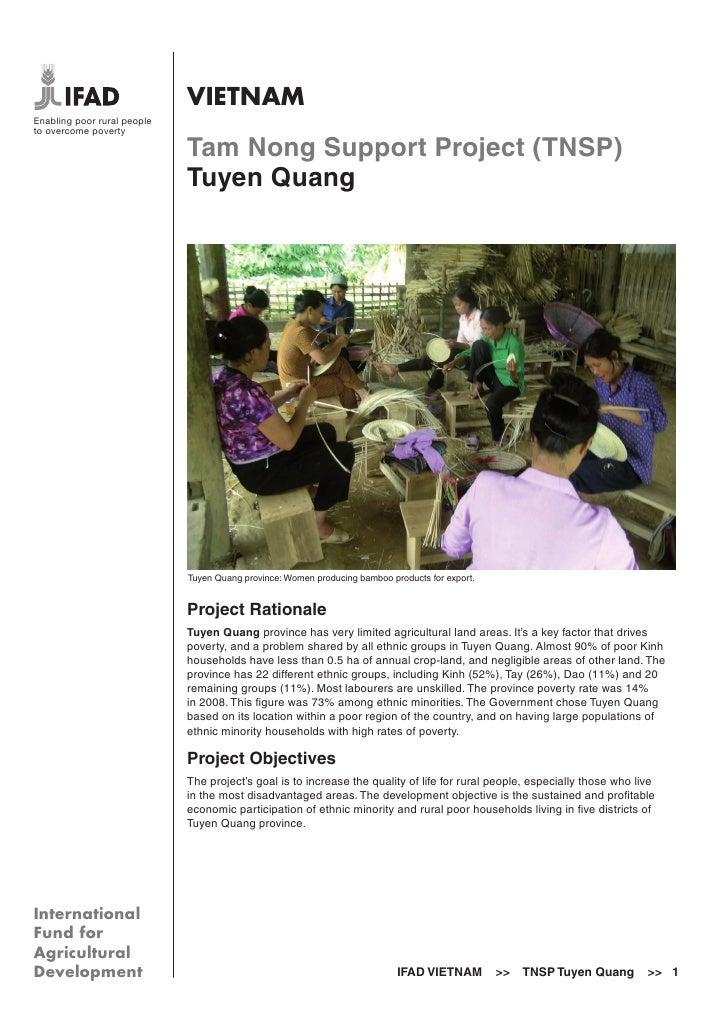 VIETNAMEnabling poor rural peopleto overcome poverty                             Tam Nong Support Project (TNSP)          ...