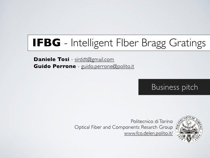 IFBG pitch
