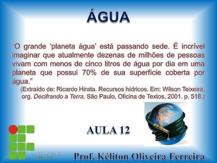 Ifes aula 12-água-no_brasil_e_no_mundo
