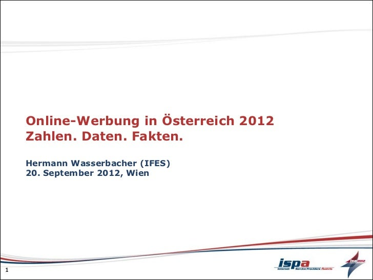 IFES: Online-Werbung in Österreich 2012