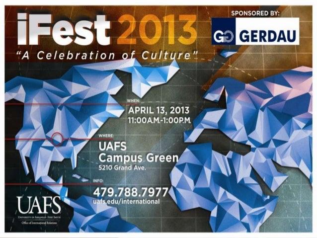 UNIVERSITY OF ARKANSAS FORT SMITH iFest 2013
