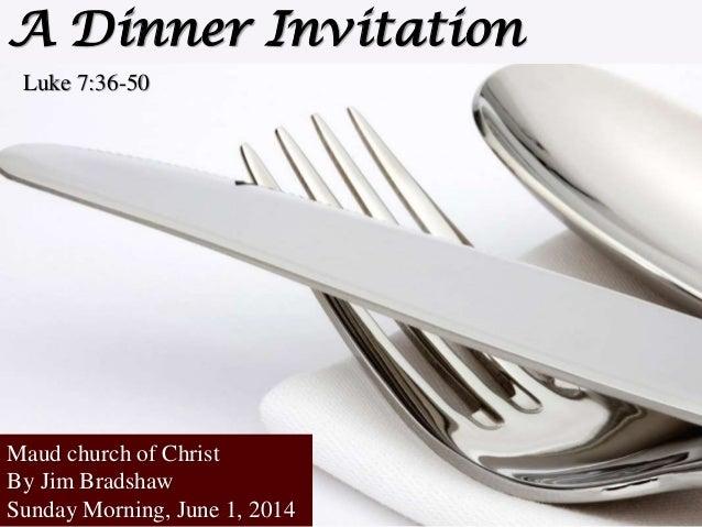 M2014 s41 a dinner invitation 6 1-2014 sermon