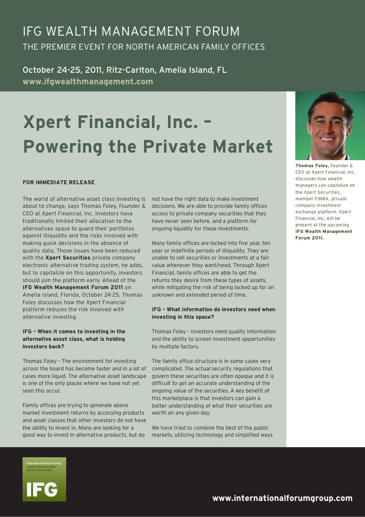 Xpert Financial, Inc. – Powering the Private Market