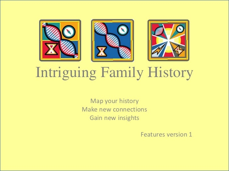 Intriguing Family History         Map your history       Make new connections         Gain new insights                   ...